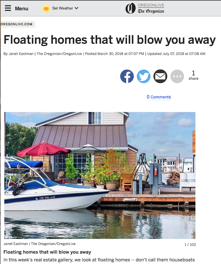 Incredible Floating Homes Portland Where The River Always Runs To Home Interior And Landscaping Mentranervesignezvosmurscom